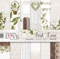 """Дизайнерски комплект хартии """"Първата любов"""", 30см, Laserowe Love"""
