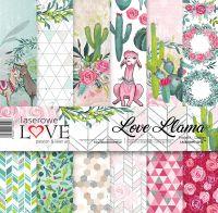 "Дизайнерски комплект хартии ""Love Llama"", 30см, Laserowe Love"