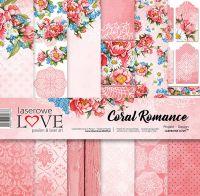 "Дизайнерски комплект хартии ""Романтика в корал"", 30см, Laserowe Love"