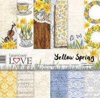 """Дизайнерски комплект хартии """"Пролет в жълто"""", 30см, Laserowe Love"""