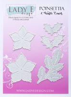 """Щанци за изрязване """"Poinsettia & Winter Leaves"""", Lady E Design"""
