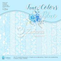 "Дизайнерски комплект хартии ""Синьо"", 30.5см, Zulana Creation"