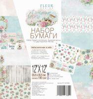 """Дизайнерски комплект хартии """"Дъх на пролет"""", 30.5см, Fleur Design"""
