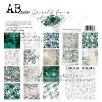 """Дизайнерски комплект хартии """"Emerald Queen""""-30см, ABStudio"""