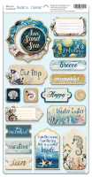 "Дизайнерски чипборд елементи ""Nautical Graphic"", Scrapmir"