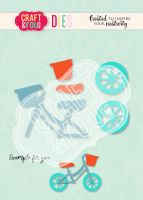 Комплект щанци за изрязване на бебешко колело, Craft&YouDesign
