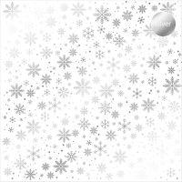 """Дизайнерски ацетатен лист """"Снежинки-сребристи"""", Kora Projects"""