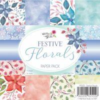 """Дизайнерско блокче """"Festive Florals"""", 15см, WRS"""