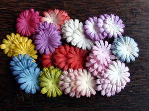 Маргаритки, микс ярки цветове, 50бр., 25 мм