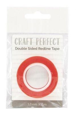 Двойно лепяща червена лента, 12мм х 5м, Tonic Studios