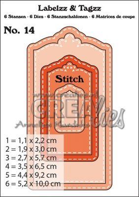 Комплект щанци за изрязване на тагове с шев - вариант 14