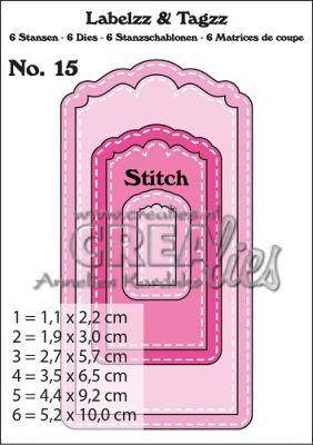 Комплект щанци за изрязване на тагове с шев - вариант 15