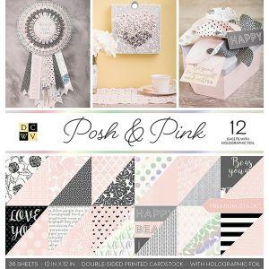 "Дизайнерски блок хартии ""Posh & Pink"", 36л., 30.5см, DCWV"