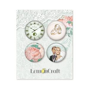 "Скрапбукинг копчета ""Love of my life"", 4бр., Lemoncraft"