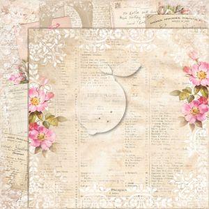"""Дизайнерски лист хартия """"Дом на рози""""- extra -7 - 30.5см, Lemoncraft"""
