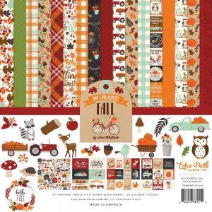 "Дизайнерски комплект хартии ""Любимата есен"", 30.5см, Echo Park"