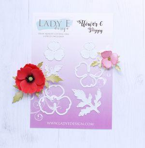 """Щанци за изрязване """"Flower 006"""", Lady E Design"""
