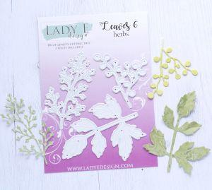 """Щанци за изрязване """"Leaves 006"""", Lady E Design"""