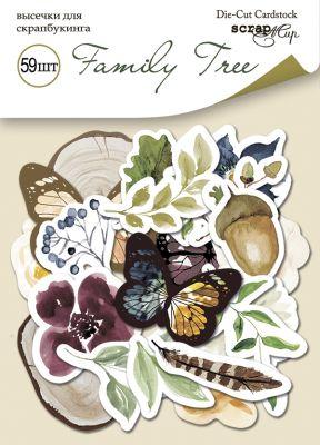 "Дизайнерски хартиени елементи ""Family Tree"", Scrapmir"
