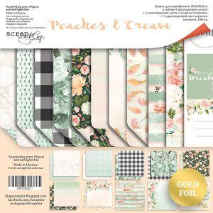 "Комплект дизайнерски хартии ""Peaches & Cream"", 30см, Scrapmir"
