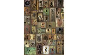 """Хартия за декупаж """"Старинни ключалки"""", А3, 25гр/м"""