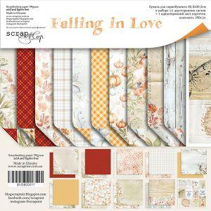 "Комплект дизайнерски хартии ""Falling in Love"", 30см, Scrapmir"
