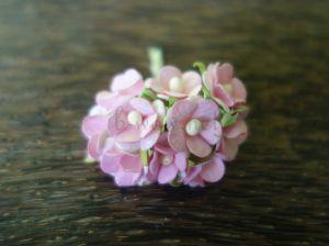 Цветенца, светлорозово-розови, 15мм