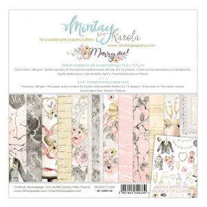 "Дизайнерско блокче хартии ""Marry Me"", 15см, Mintay Papers"