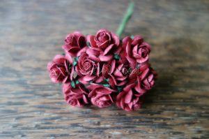 Рози, бордо, 15мм