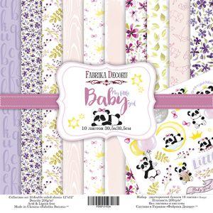 """Комплект дизайнерски хартии """"My little baby girl"""", 30см, Fabrika Decoru"""