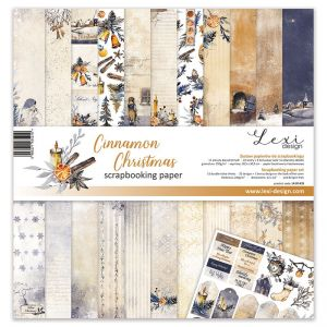 """Дизайнерски комплект хартии """"Канелена Коледа"""", 30см, Laserowe Love"""