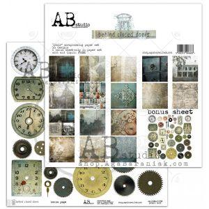 """Дизайнерски комплект хартии """"Behind closed doors"""" - 30см, ABStudio"""