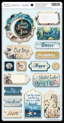 "Дизайнерски чипборд елементи ""Nautical Graphic"", Scrapmir"