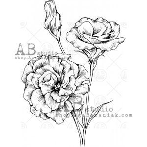 """Гумен печат """"Цветя - ID-598"""", ABStusio"""