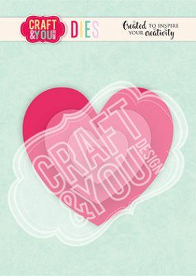 Комплект щанци за изрязване на сърца, Craft&YouDesign