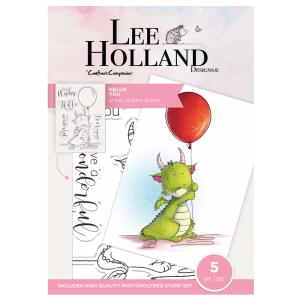 """Комплект прозрачни печати """"Hello You"""", Lee Holand"""
