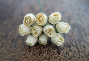 Пъпки на роза, кремави, 10бр.