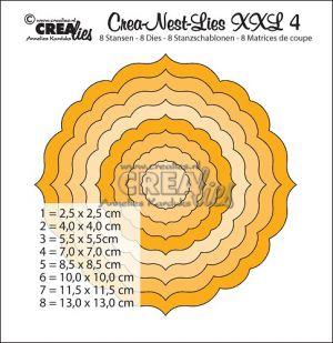 Комплект щанци за изрязване с декоративна кръгла форма - №4