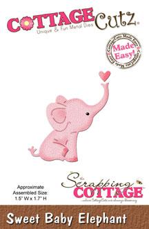 """Дизайнерска щанца за изрязване """"Сладък малък слон"""""""