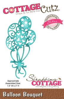 """Дизайнерска щанца за изрязване """"Букет от балони"""""""