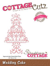 """Дизайнерска щанца за изрязване """"Сватбена торта"""""""