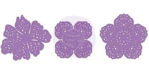 Комплект от 3 бр. дизайнерски щанци за изрязване на цветя