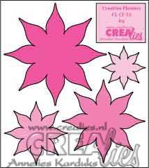 """Дизайнерска щанца """"Осемлистни цветя"""""""