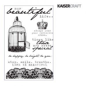 """Прозрачен печат """"Oh, so lovely"""" на Kaisercraft"""