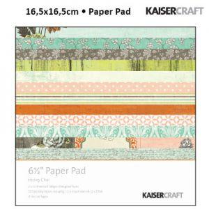 "Блокче дизайнерски хартии ""Honey chai"", 16,5см, Kaisercraft"