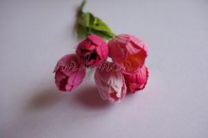Микс от розови лалета от мълбери хартия