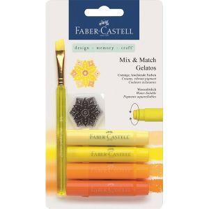 Крафт материали - акварелни пастели Faber Castell жълти