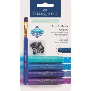 Крафт материали -акварелни  пастели Faber Castell сини