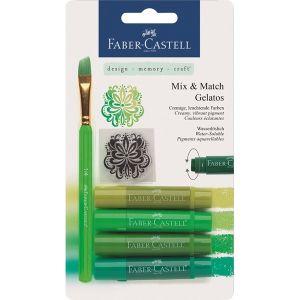 Крафт материали - акварелни пастели Faber Castell зелени