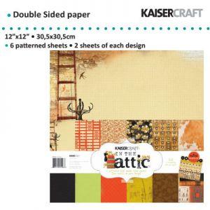 "Дизайнерски комплект хартии ""In The Attic"" - 30.5см х 30.5см"